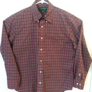 LAUREN RALPH LAUREN Mens Size M Front Button Shirt